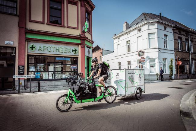 cargo velo, gentlevert, city logistics, gent, ship from store, local for local